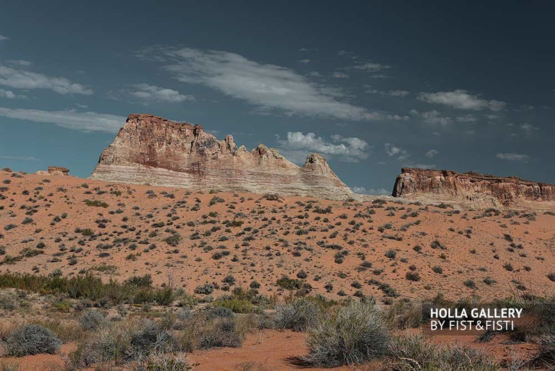 Скалы в пустыне национального парка в Utah, США