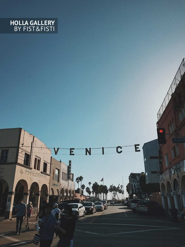 Venice Beach, USA, Los Angeles, пальмы. Фото картина
