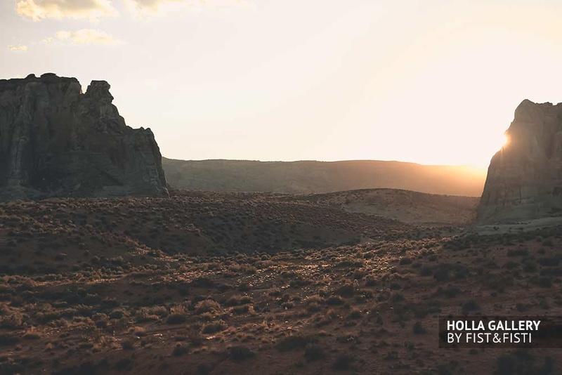Utah, пустыня, скалы, закат, панорама
