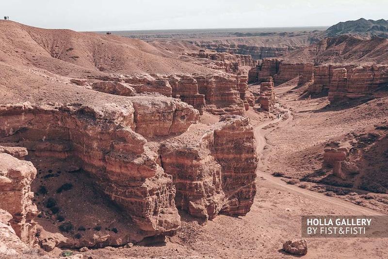 Долина Чарынского каньона в Казахстане. Фото картина