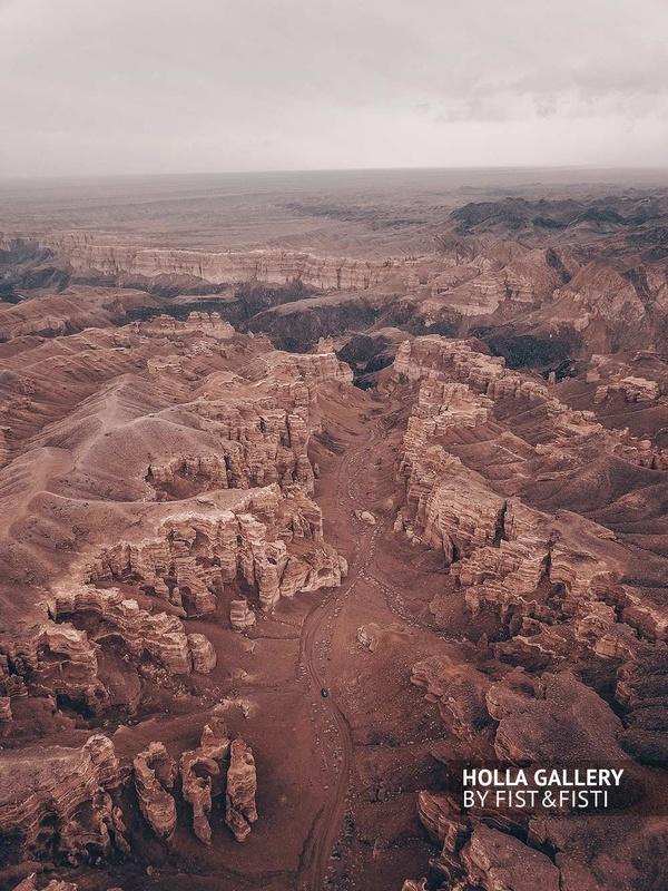 Фото с коптера, Чарынский каньон в Казахстане