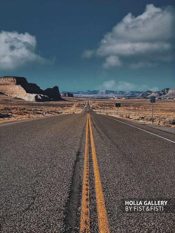 Дорога уходящая в даль в штате Utah, фотообои для интерьера.