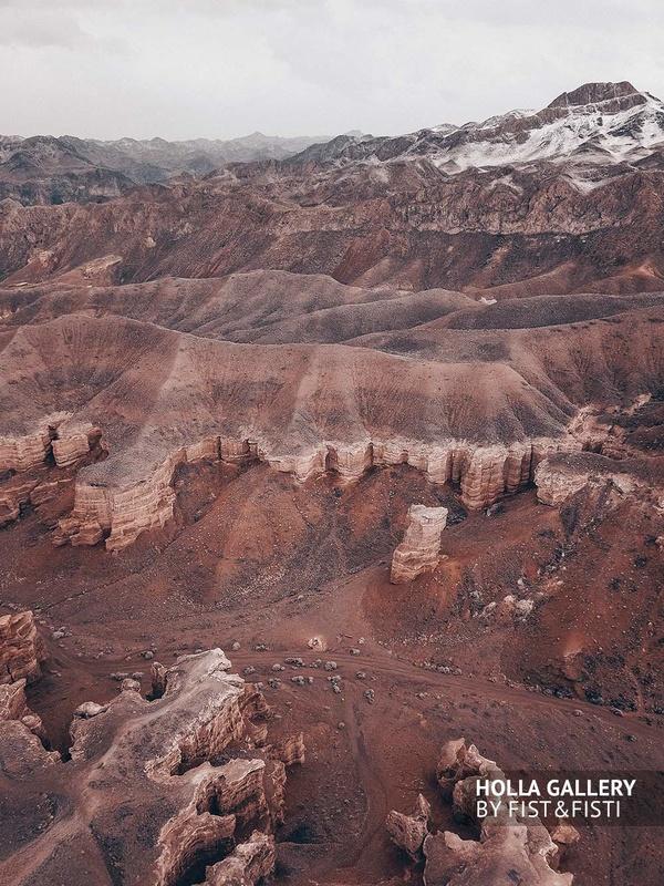 Горы, Чарынский каньон на фото с дрона