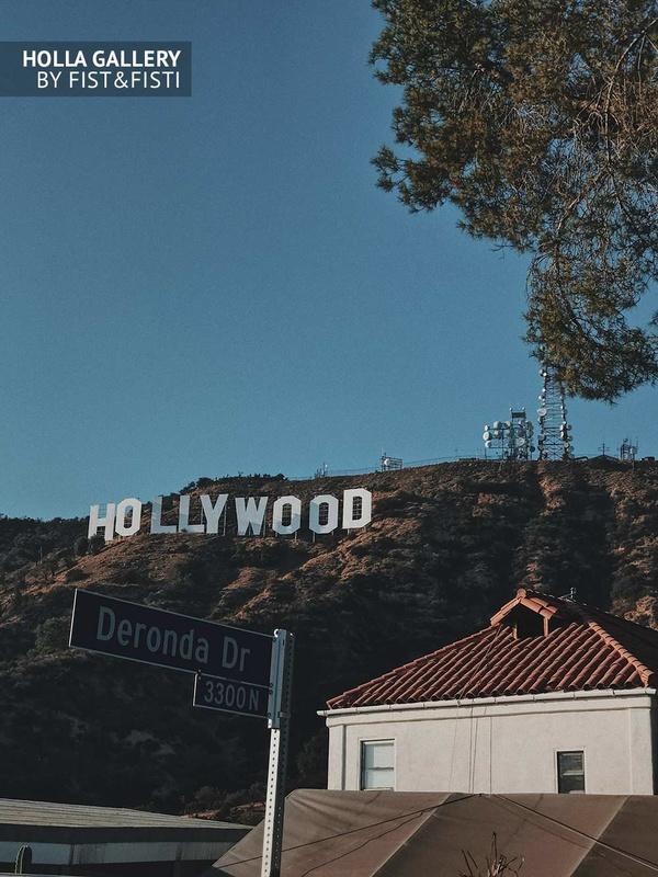 Вид на надпись Hollywood. Фотография для интерьера