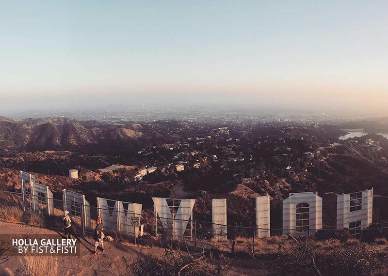 Обратная сторона надписи Голливуд