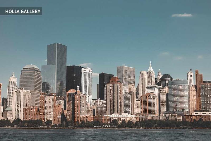 Высотки Нью-Йорка со стороны реки Гудзон