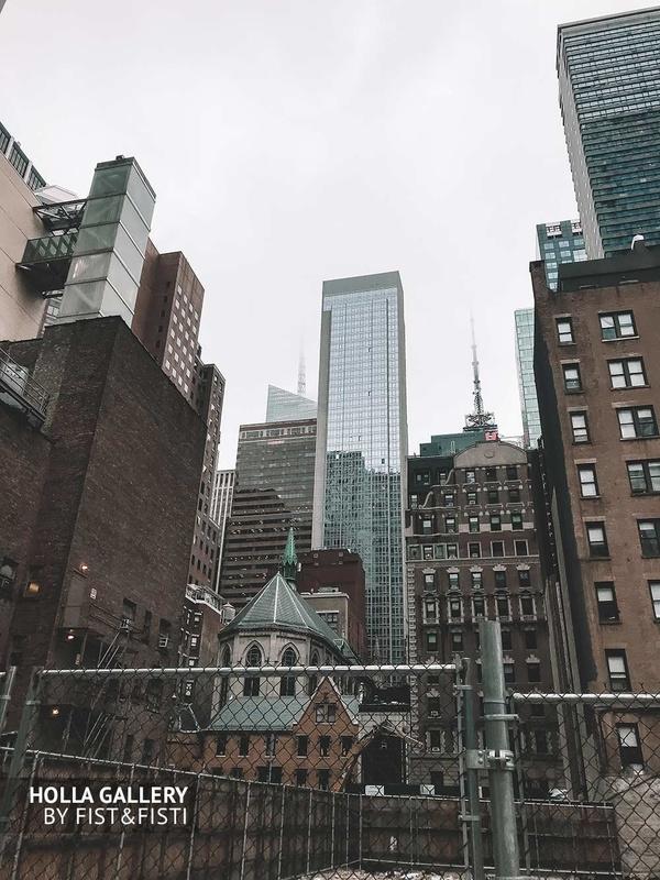NYC, USA, небоскребы, жилой квартал