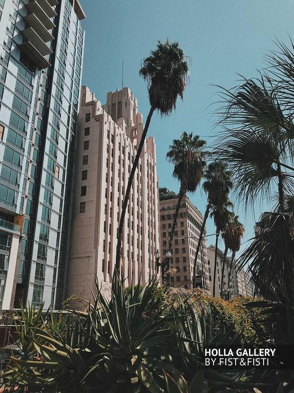 Пальмы, отели, Los Angeles, лето