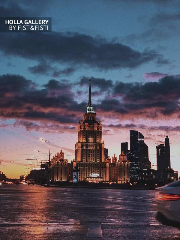 Закат в Москве, отель Radisson, Москва-Сити. Фотография на стену