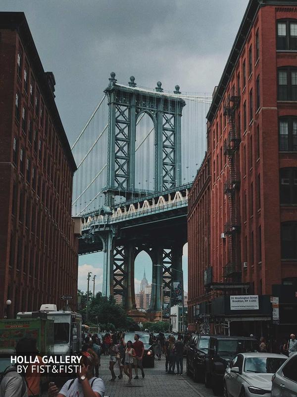 New York City, Manhattan Bridge, Манхэттенский мост, туристы, USA