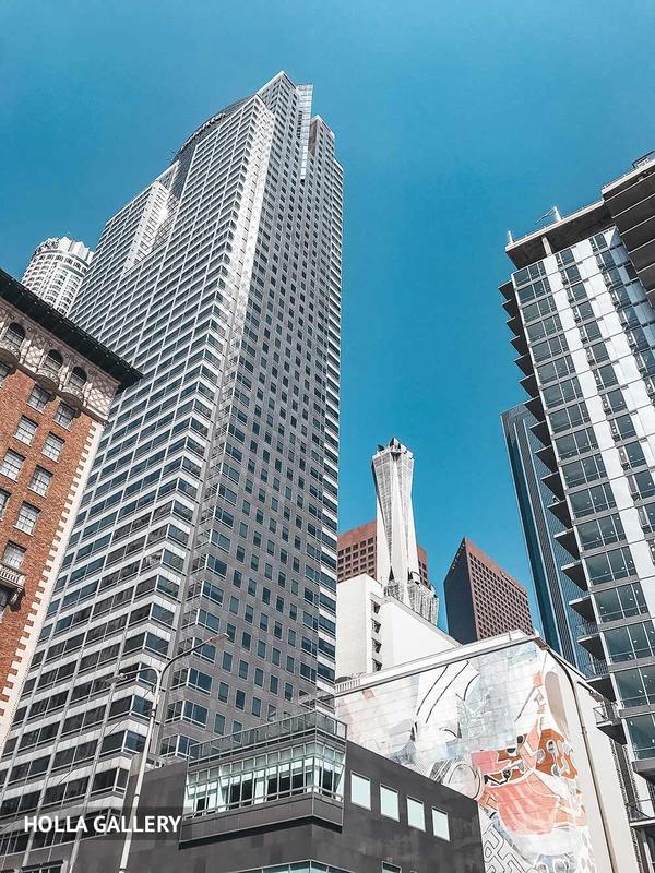 Небоскребы Нью-Йорка вид снизу