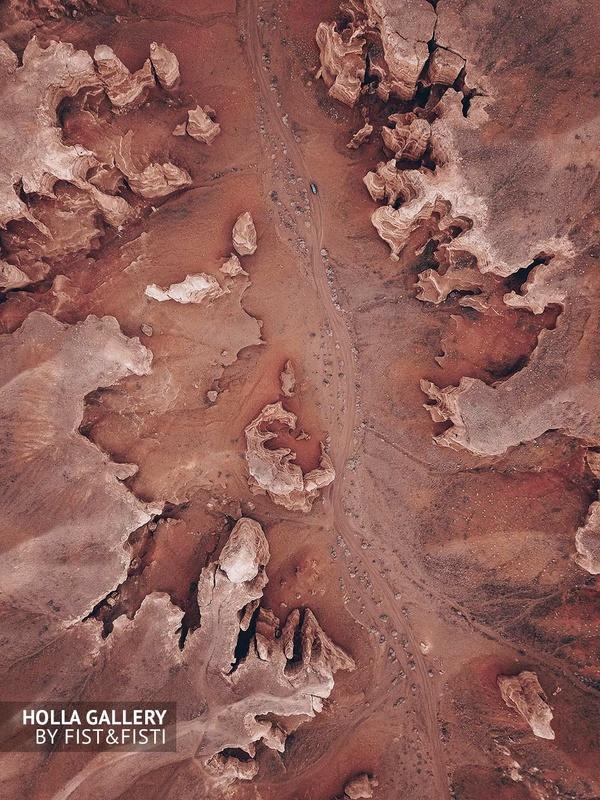 Вид сверху на Чарынский каньон, фото на дрон
