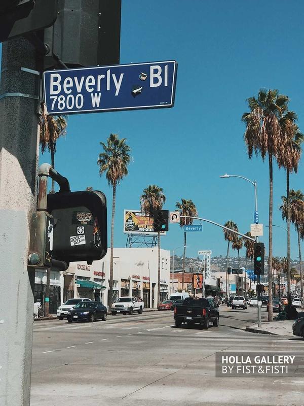 Бульвар Beverly Hills, Беверли Хиллз. Пальмы в Лос-Анджелесе