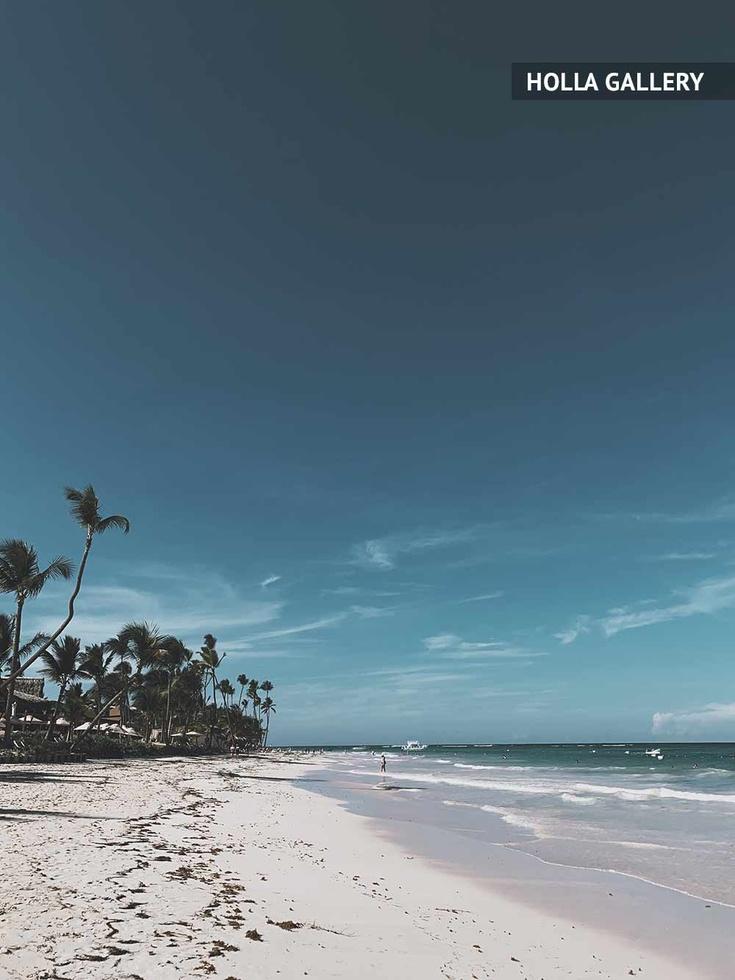 Пляж с пальмами в Доминикане