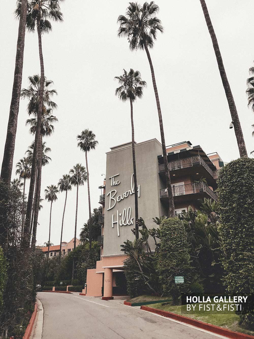 Beverly Hills, отель, небо, пальмы
