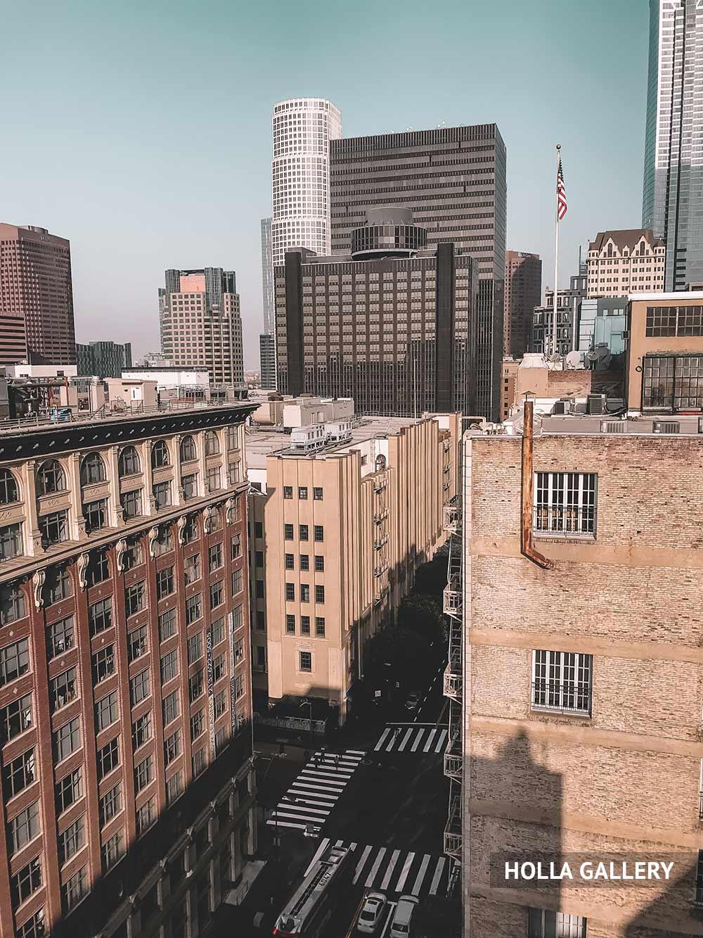 Улица и небоскребы Нью-Йорка фото с крыши