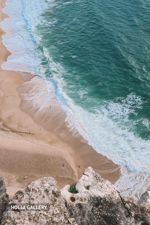 Пляж Назаре с видом сверху
