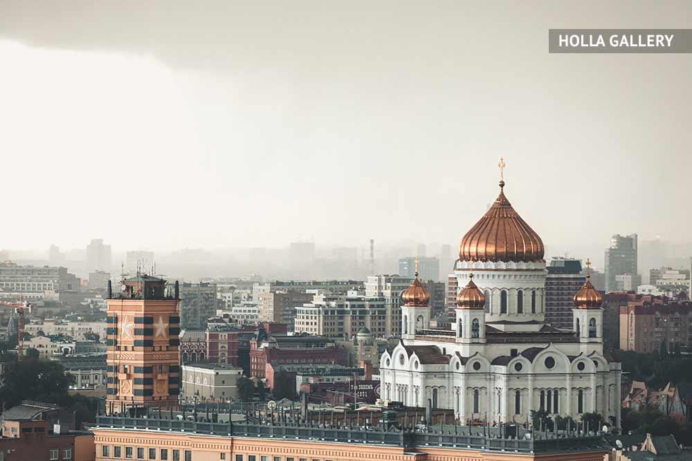 Храм Христа Спасителя фото с крыши