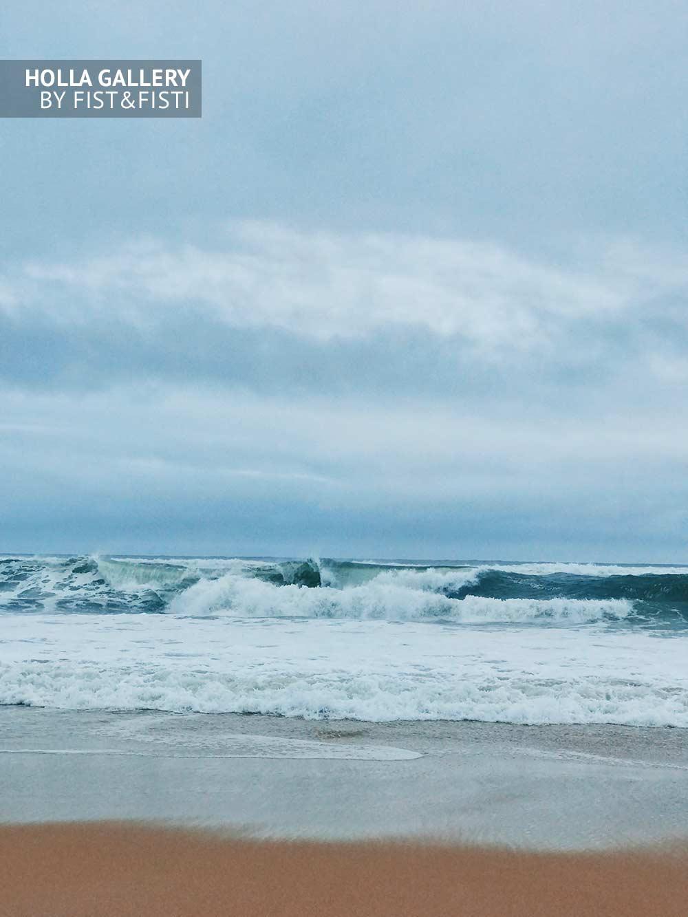 Волны, пляж, прибой