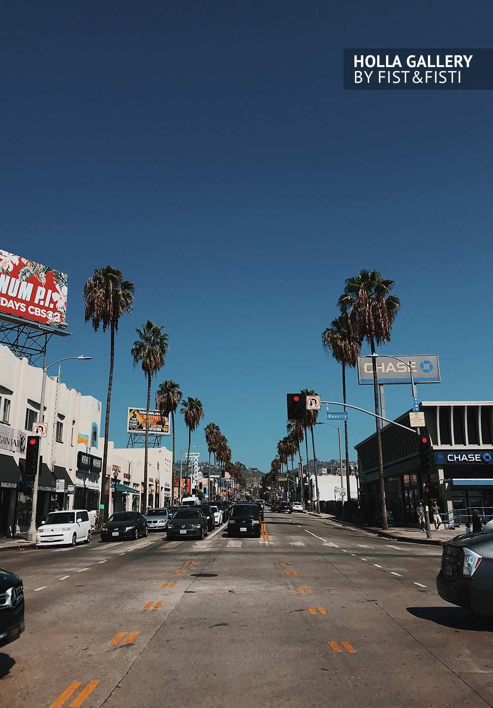 Улицы Калифорнии. Трафик среди пальм