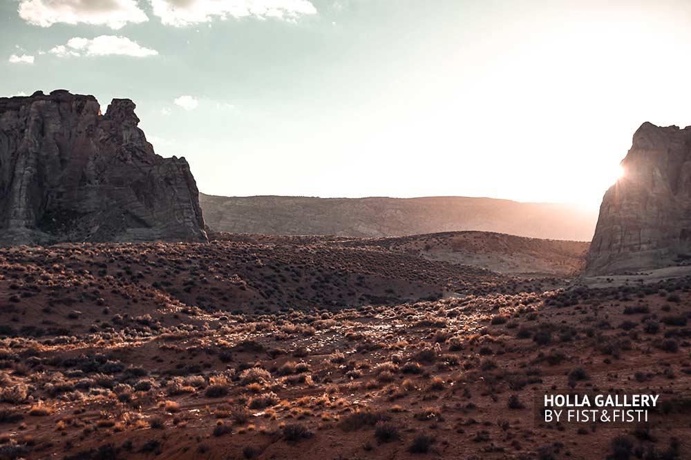 Utah, скалы, закат, пустыня, небо