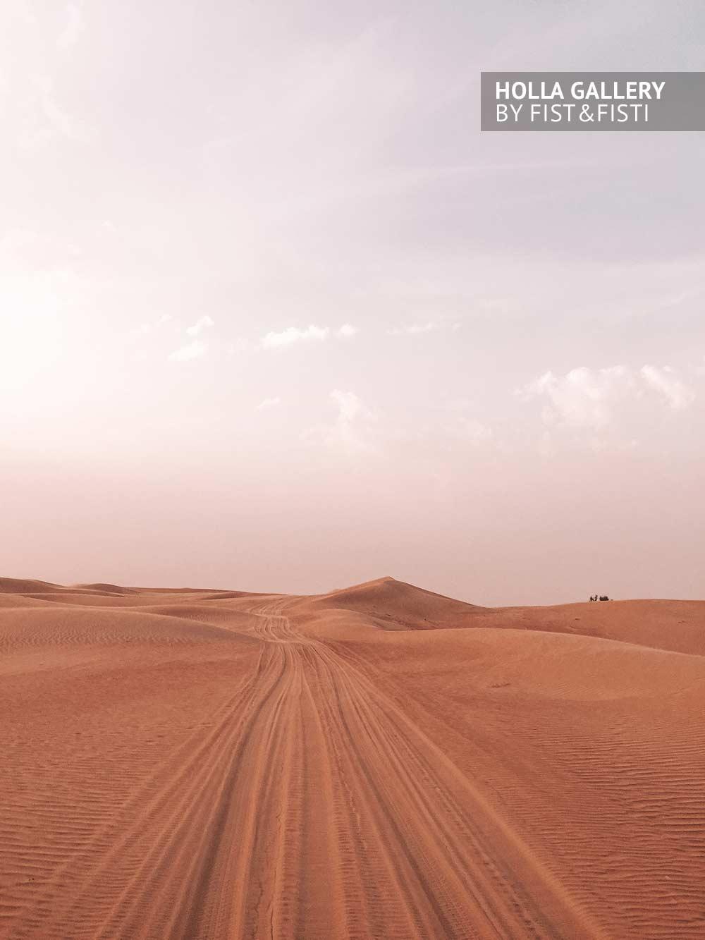 Пустыня, небо, следы, облака