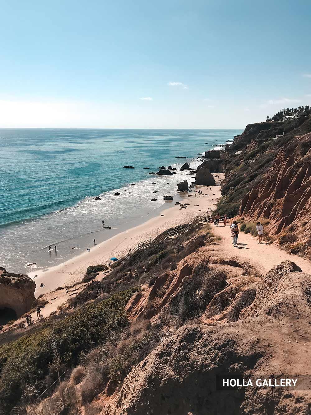 Спуск к пляжу в Лос-Анджелесе